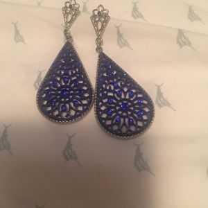 Royal Blue Sparkle earrings